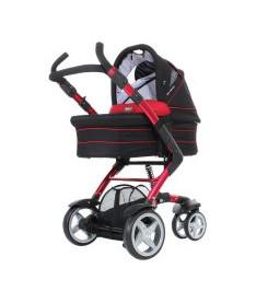 ABC Универсальная коляска 2 в 1 3 TEC Cherry-black красный с черным