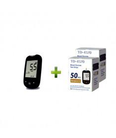 Акционный набор! TD-4183 Глюкометр TaiDoc для определения уровня глюкозы + тест-полоски глюкоза №100