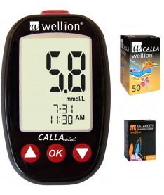 Акционный набор Wellion Calla Mini + тест-полоски №50 + ланцеты №50  (Австрия)