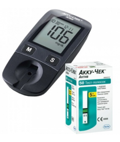 Акция! Cистема контроля уровня глюкозы в крови Accu-Chek Active + 50 тест-полосок!