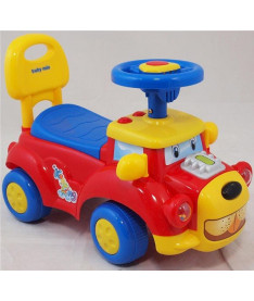 Alexis-Babymix HZ-554 (red)  Машинка-каталка