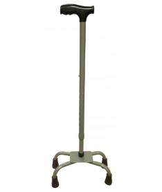 Алюминиевая трость Medok MED-01-015, регулируемая по высоте, с 4-мя опорами малая