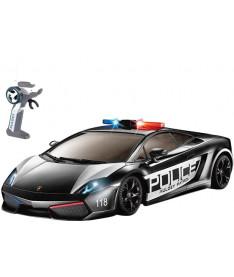 Auldey LAMBORGHINI LP560-4 GALLARDO POLICE (черный,1:28,свет мигалки) Автомобиль радиоупр-ый (1:28)
