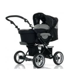 АВС Универсальная коляска 2 в 1 &ampquotPRAMY LUXE Black pearl серый с узорами