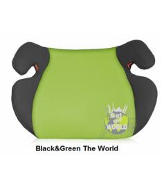 Автокресло Bertoni EASY, black and green get the world