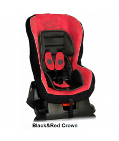 Автокресло Bertoni GRAND PRIX, black and red crown