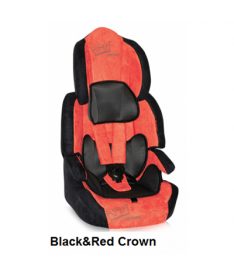 Автокресло Bertoni SPEEDWAY, black and red crown