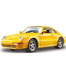 Bburago PORSCHE 911 CARRERA (желтый, 1:24) Авто-конструктор