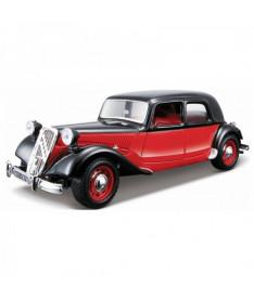 BburagoBijoux CITROEN 15 CV TA (1938) (ассорти черный,красно-черный,1:24) Автомодель (1:24)