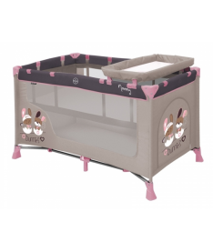 Bertoni Just4kids NANNY 2L (beige bunnies)  Манеж