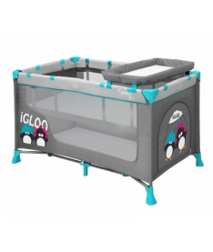 Bertoni  Just4kids NANNY 2L (grey green igloo)  Манеж