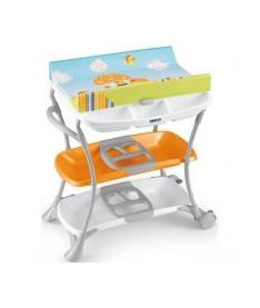 CAM Столик для пеленания NUVOLA оранжевый с рисунком