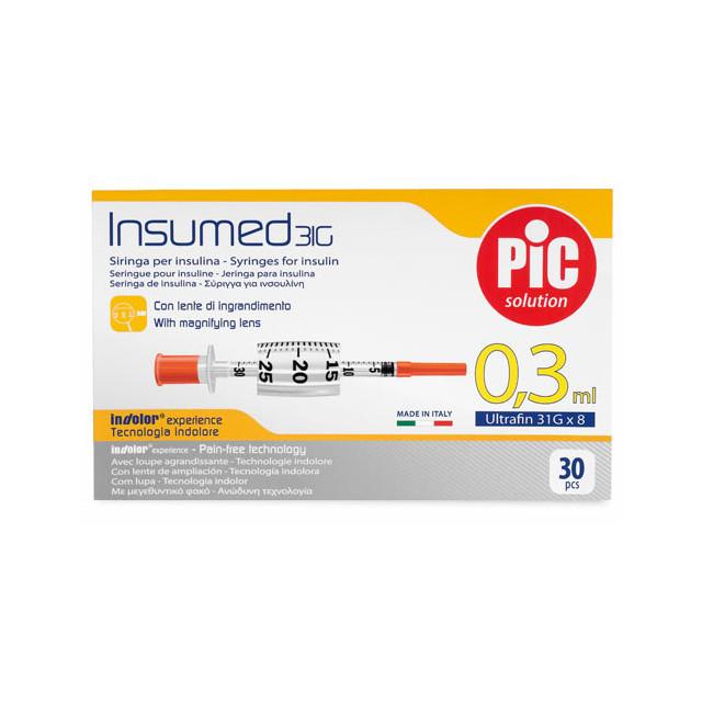 Инсулиновый шприц Insumed 0,3 мл 31G x 8 10