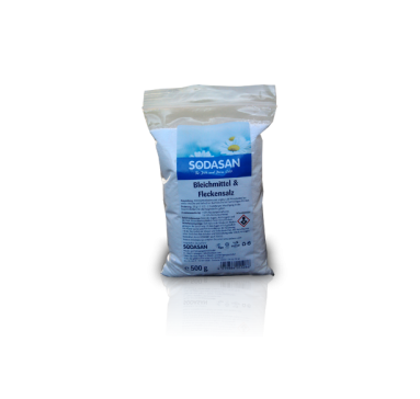 Органическое кислородное средство-запаска Sodasan для отбеливания и удаления стойких загрязнений, 500г