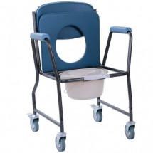 Фото: Стул-туалет на колесах с мягким сиденьем OSD-MOD-WAVE - изображение 2