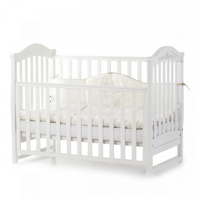 Кроватка детская Верес Соня ЛД3 без колес на ножках, белый