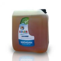 Фото: Органическое жидкое средство Sodasan Color-sensitiv д/стирки цветных тканей от 30` для чувствительной кожи и детского белья, 5 л - изображение 1