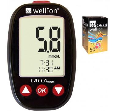 Акционный набор Wellion Calla Mini + тест-полоски №50 (Австрия)