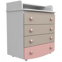 Фото: Комод-пеленатор Верес 900 капучино/розовый - изображение 1