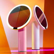"Фото: Зеркало для макияжа AMIRO LUX 8"" AML002P Pink - изображение 5"
