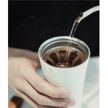 Фото: Термокружка KissKissFish MOKA Smart Coffee Tumbler White - изображение 5