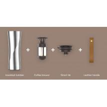 Фото: Термокружка KissKissFish MOKA Smart Coffee Tumbler White - изображение 4