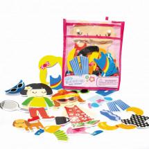 Фото: Игровой набор стикеров для ванной Модные наряды Meadow Kids (MK 030) - изображение 1