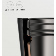 Фото: Термокружка KissKissFish MOKA Smart Coffee Tumbler Black - изображение 4