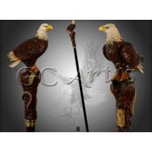 Фото: Трость Орел со змеей GC-Artis Eagle PP-013BR  - изображение 1
