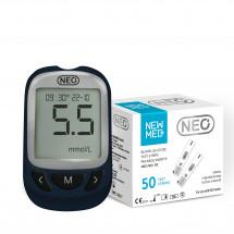 Фото: Система для контроля уровня глюкозы в крови NewMed Neo + 50 тест полосок - изображение 1