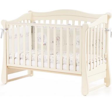 Кроватка детская Верес Соня ЛД18 без колес на ножках, слоновая кость