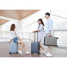 "Фото: Чемодан RunMi 90 Points suitcase Business Travel Lake Light Blue 20"" - изображение 5"