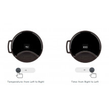 Фото: Термокружка KissKissFish MOKA Smart Coffee Tumbler Black - изображение 3