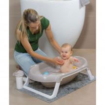 Фото: Ванночка детская для купания OK Beby Onda Slim серая - изображение 3