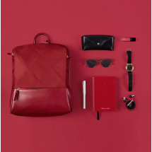 Фото: Рюкзак RunMi 90GOFUN Fashion city Lingge shoulder bag Red - изображение 5