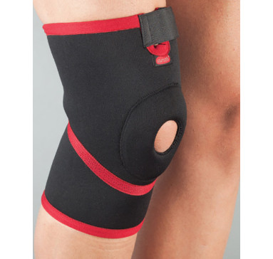 Бандаж на колено неопреновый неразъемный, силиконовое кольцо Aurafix 101