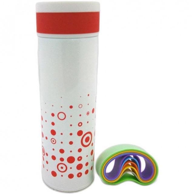 Термос LUMI Super Light Stainless Steel Vacuum Mug Limited edition White/Red