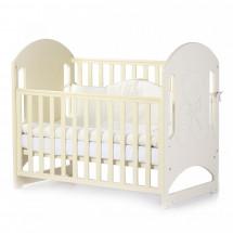 Фото: Кроватка детская Верес Соня ЛД8 без колес на ножках, резьба Мишка со стразами, слоновая кость - изображение 3