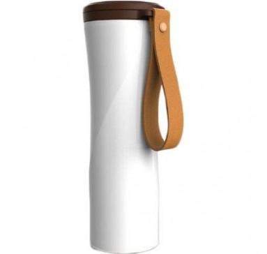 Термокружка KissKissFish MOKA Smart Coffee Tumbler White