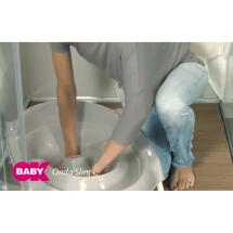 Фото: Ванночка детская для купания OK Beby Onda Slim серая - изображение 1