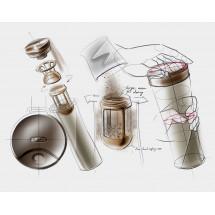 Фото: Термокружка KissKissFish MOKA Smart Coffee Tumbler White - изображение 1