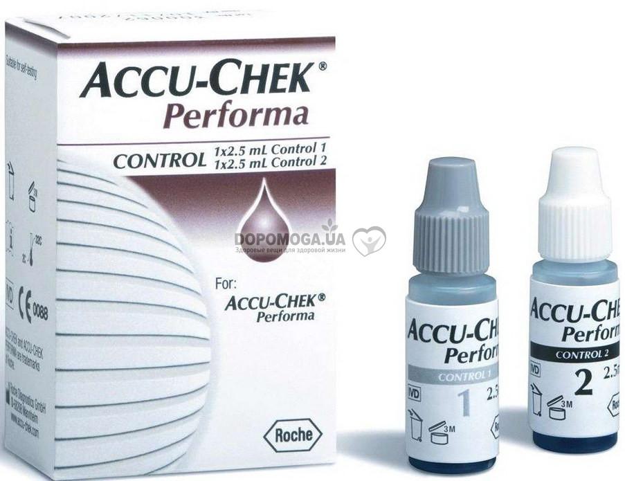 accu chek performa control Контрольный раствор купить глюкометр  accu chek performa control Контрольный раствор