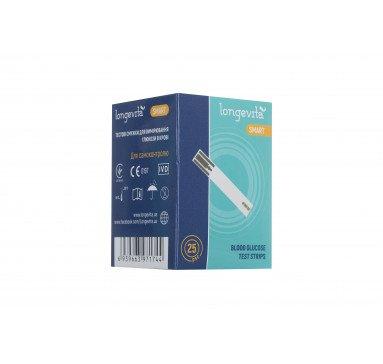 Тестовые полоски для глюкометра LONGEVITA Smart (25 шт)