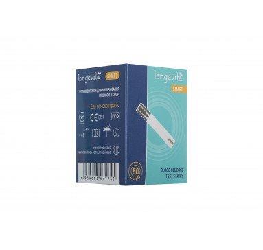 Тестовые полоски для глюкометра LONGEVITA Smart (50 шт)