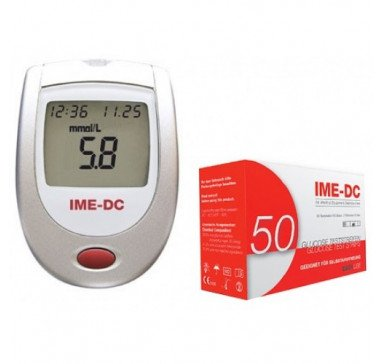 Акционный комплект! Глюкометр IME-DC + тест-полоски 50