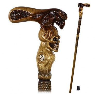 Трость Ворон и Череп GC-Artis Snake-Skull WP-014L