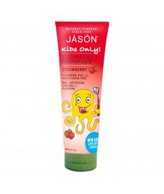 Детская зубная паста клубничная 119г, Jason(США)