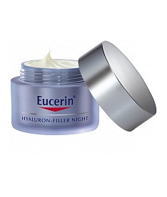 Eucerin Hyaluron Filler Night Cream Гиалурона-Филлер Ночной крем против морщин для лица 50 мл