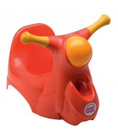 Горшок детский OK Beby Scooter со звуковой фарой красный