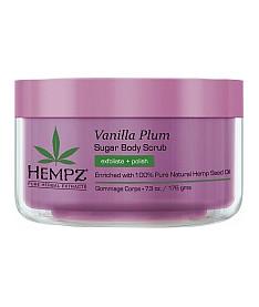Hempz Sugar Body Scrub Хемпз Сахарный скраб для тела Ваниль-Слива 176 г